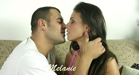 Hot teen brunette Melanie defloration